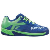 Handbalschoenen Kempa Wing 2.0 Junior - Blauw/Groen