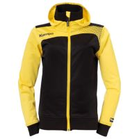 Kempa Dames Emotion Jacket met capuchon - Geel-Zwart