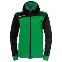 Kempa Dames Emotion Jacket met capuchon - Groen-Zwart