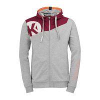 Kempa Handbal Core 2.0 Hooded Jacket - Grijs-Diep Rood
