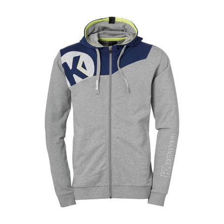Kempa Handbal Core 2.0 Hooded Jacket - Grijs-Navy