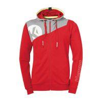 Kempa Handbal Core 2.0 Hooded Jacket - Rood-Grijs