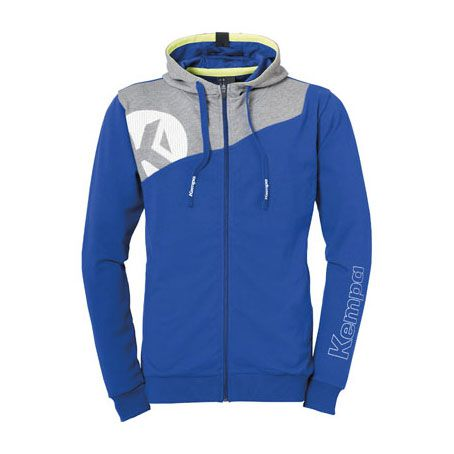 Kempa Handbal Core 2.0 Hooded Jacket - Royal-Grijs