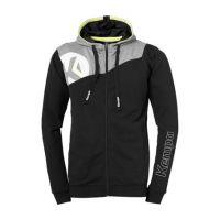 Kempa Handbal Core 2.0 Hooded Jacket - Zwart-Grijs