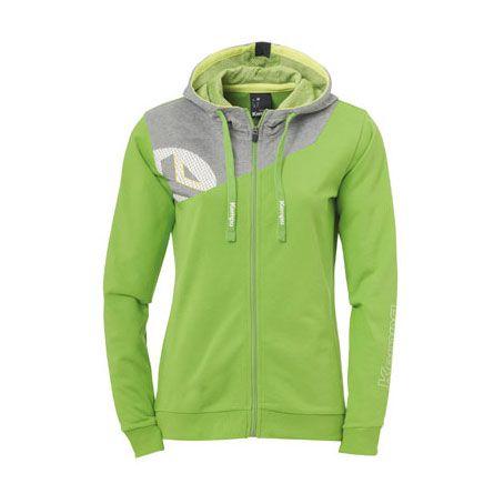 Dames Kempa Core 2.0 Hooded Jacket - Groen-Grijs