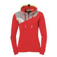 Dames Kempa Core 2.0 Hooded Jacket - Rood-Grijs