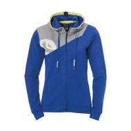 Dames Kempa Core 2.0 Hooded Jacket - Royal-Grijs