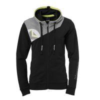 Dames Kempa Core 2.0 Hooded Jacket - Zwart-Grijs