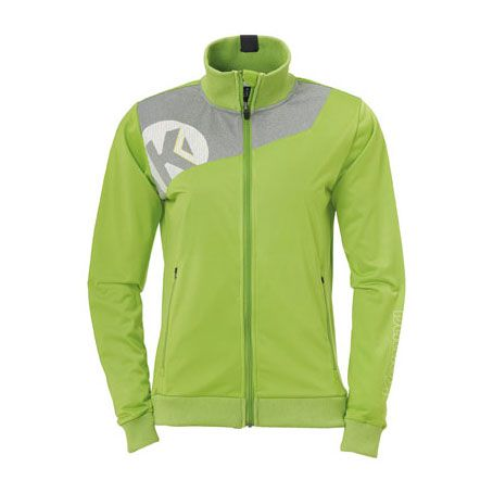 Dames Kempa Core 2.0 Poly Jacket - Groen-Grijs
