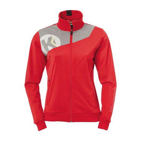 Dames Kempa Core 2.0 Poly Jacket - Rood-Grijs