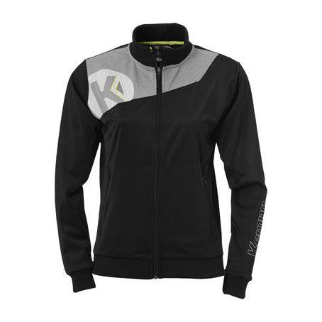 Dames Kempa Core 2.0 Poly Jacket - Zwart-Grijs
