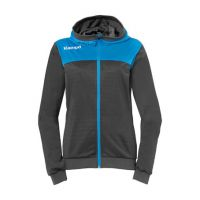 Dames Kempa Emotion 2.0 Hooded Jacket - Antra-Blauw