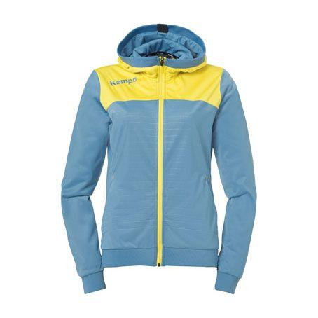 Dames Kempa Emotion 2.0 Hooded Jacket - Dove Blue