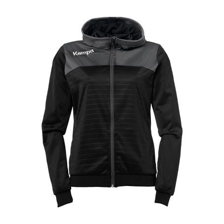 Dames Kempa Emotion 2.0 Hooded Jacket - Zwart-Antra