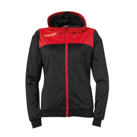 Dames Kempa Emotion 2.0 Hooded Jacket - Zwart-Rood