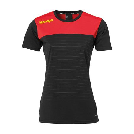 Kempa Dames Handbalshirt Emotion 2.0 - Zwart-Rood
