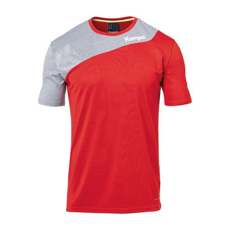 Kempa Handbalshirt Core 2.0 - Rood-Grijs