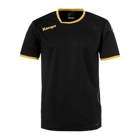 Kempa Handbalshirt Curve - Zwart-Goud