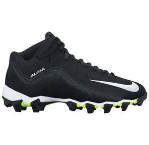 Korfbalschoenen Nike Alpha Shark 2 3-4 - Zwart-Wit