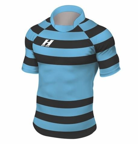 Rugbyshirt Irregular Hoops 5