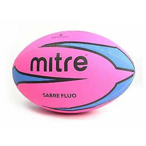 Rugbybal Mitre Sabre Fluo - Roze -Blauw