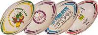 Rugbyballen met clublogo