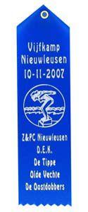 Erelintje Moiré met Eigen Logo 18 x 5