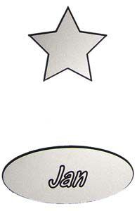 Kunststof graveerplaatje zilver