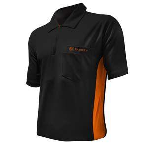 Dartshirt Target Coolplay Hybrid - Zwart-Oranje