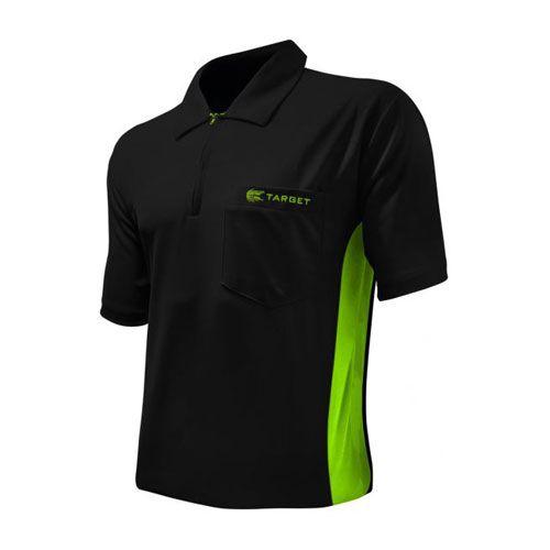 Dartshirt Target Coolplay Hybrid - Zwart-Groen