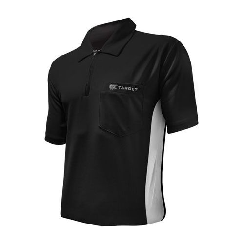 Dartshirt Target Coolplay Hybrid - Zwart-Wit